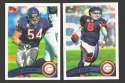 2011 Topps Football Team Set Chicago Bears - 12 Cards