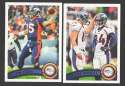 2011 Topps Football Team Set DENVER BRONCOS - 16 Cards