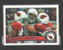 2011 Topps Football Team Set Arizona Cardinals - 10 Cards