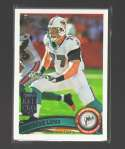 2011 Topps Football Team Set Miami Dolphins - 13 Cards