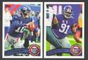2011 Topps Football Team Set New York Giants - 16 Cards