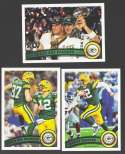 2011 Topps Football Team Set GREEN BAY PACKERS - 21 cards