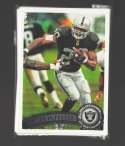 2011 Topps Football Team Set Oakland Raiders - 12 Cards