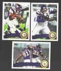 2011 Topps Football Team Set Minnesota Vikings - 11 Cards