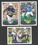 2013 Topps Football Team Set - SAN DIEGO CHARGERS