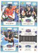 2008 Score Super Bowl XLIII GLOSSY Team set - CHICAGO BEARS