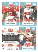 2008 Score Super Bowl XLIII GLOSSY Team set - KANSAS CITY CHIEFS