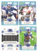 2008 Score Super Bowl XLIII GLOSSY Team set - NEW YORK GIANTS