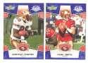 2008 Score Super Bowl XLIII BLUE Team set - SAN FRANCISCO 49ers