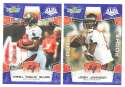 2008 Score Super Bowl XLIII BLUE Team set - TAMPA BAY BUCCANEERS