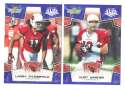 2008 Score Super Bowl XLIII BLUE Team set - ARIZONA CARDINALS