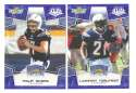 2008 Score Super Bowl XLIII BLUE Team set - SAN DIEGO CHARGERS