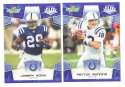 2008 Score Super Bowl XLIII BLUE Team set - INDIANAPOLIS COLTS