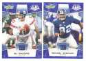 2008 Score Super Bowl XLIII BLUE Team set - NEW YORK GIANTS