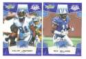 2008 Score Super Bowl XLIII BLUE Team set - DETROIT LIONS