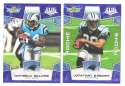 2008 Score Super Bowl XLIII BLUE Team set - CAROLINA PANTHERS
