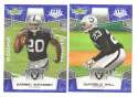 2008 Score Super Bowl XLIII BLUE Team set - OAKLAND RAIDERS
