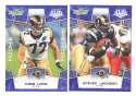 2008 Score Super Bowl XLIII BLUE Team set - ST. LOUIS RAMS