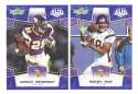 2008 Score Super Bowl XLIII BLUE Team set - MINNESOTA VIKINGS