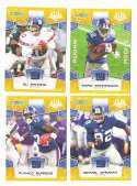 2008 Score Super Bowl XLIII GOLD Team set - NEW YORK GIANTS
