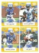 2008 Score Super Bowl XLIII GOLD Team set - DETROIT LIONS