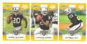 2008 Score Super Bowl XLIII GOLD Team set - OAKLAND RAIDERS