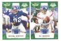 2008 Score Super Bowl XLIII GREEN Team set - NEW YORK GIANTS