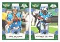 2008 Score Super Bowl XLIII GREEN Team set - CAROLINA PANTHERS
