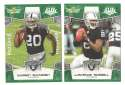 2008 Score Super Bowl XLIII GREEN Team set - OAKLAND RAIDERS