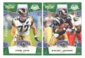 2008 Score Super Bowl XLIII GREEN Team set - ST LOUIS RAMS