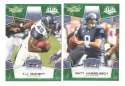 2008 Score Super Bowl XLIII GREEN Team set - SEATTLE SEAHAWKS