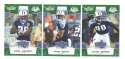 2008 Score Super Bowl XLIII GREEN Team set - TENNESSEE TITANS