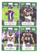 2008 Score Super Bowl XLIII GREEN Team set - MINNESOTA VIKINGS
