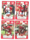 2008 Score Super Bowl XLIII RED Team set - ARIZONA CARDINALS