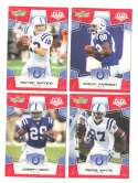 2008 Score Super Bowl XLIII RED Team set - INDIANAPOLIS COLTS