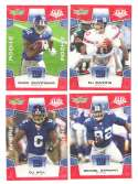 2008 Score Super Bowl XLIII RED Team set - NEW YORK GIANTS