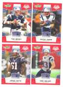 2008 Score Super Bowl XLIII RED Team set - NEW ENGLAND PATRIOTS