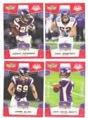 2008 Score Super Bowl XLIII RED Team set - MINNESOTA VIKINGS