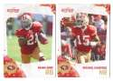 2010 Score Football Team Set - SAN FRANCISCO 49ERS