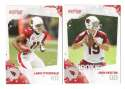 2010 Score Football Team Set - ARIZONA CARDINALS