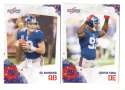 2010 Score Football Team Set - NEW YORK GIANTS