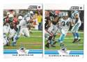 2012 Score Football Team Set - CAROLINA PANTHERS