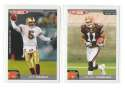 2004 Topps Total First Edition Football Team Set - CLEVELAND BROWNS