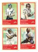 2004 Fleer Tradition (1-360) Football Team Set SAN DIEGO CHARGERS Philip Rivers