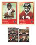 2004 Fleer Tradition (1-360) Football Team Set - ATLANTA FALCONS
