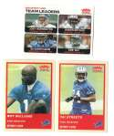 2004 Fleer Tradition (1-360) Football Team Set - DETROIT LIONS
