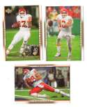 2007 Upper Deck Gold Predictor Football Team Set - KANSAS CITY CHIEFS