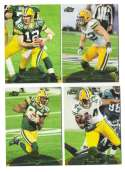 2011 Topps Prime Aqua Football Team Set - GREEN BAY PACKERS