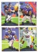 2011 Topps Prime Aqua Football Team Set - NEW YORK GIANTS