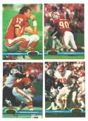 1991 Topps Stadium Club Football Team Set - KANSAS CITY CHIEFS